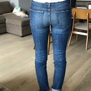 J Brand Jeans - J Brand Blue Jeans with Distress in the front